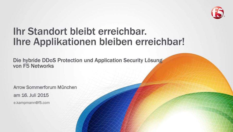 Die hybride DDoS Protection und Application