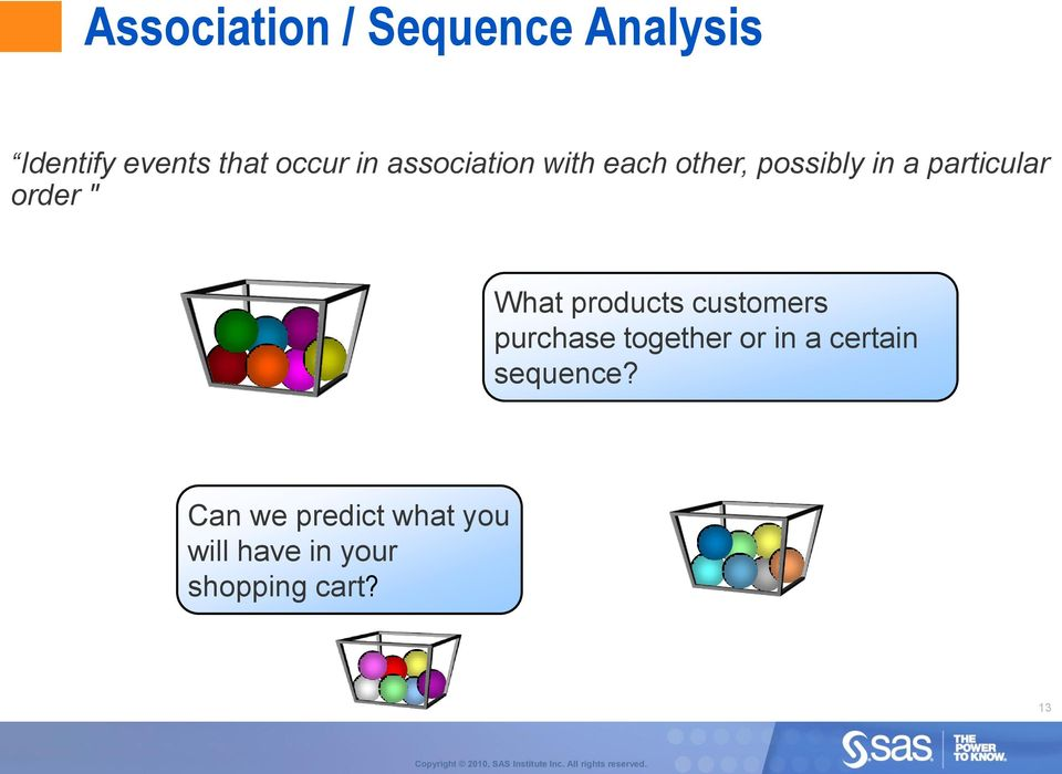 What products customers purchase together or in a certain