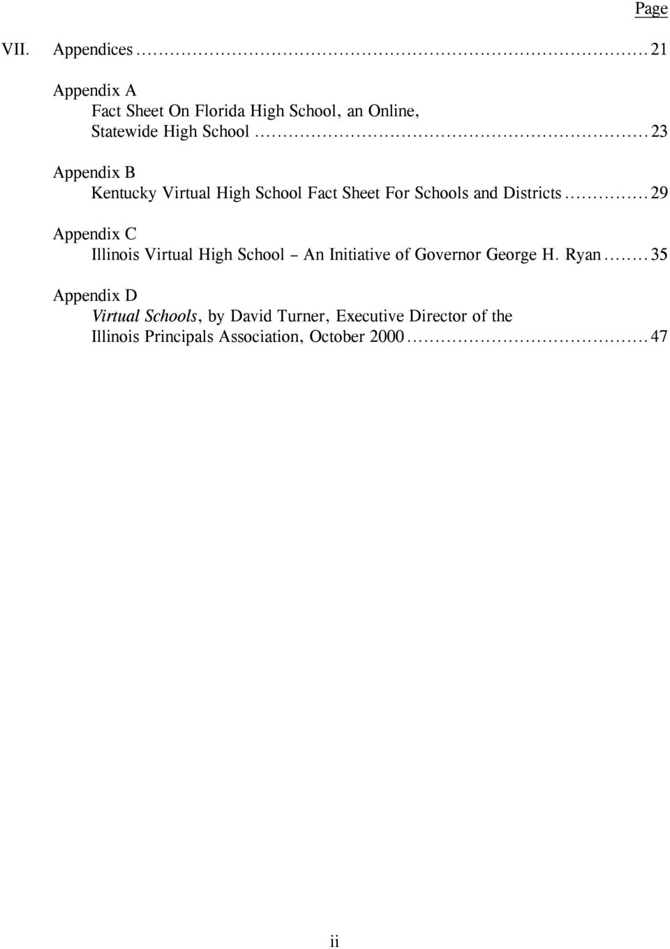 ..23 Appendix B Kentucky Virtual High School Fact Sheet For Schools and Districts.