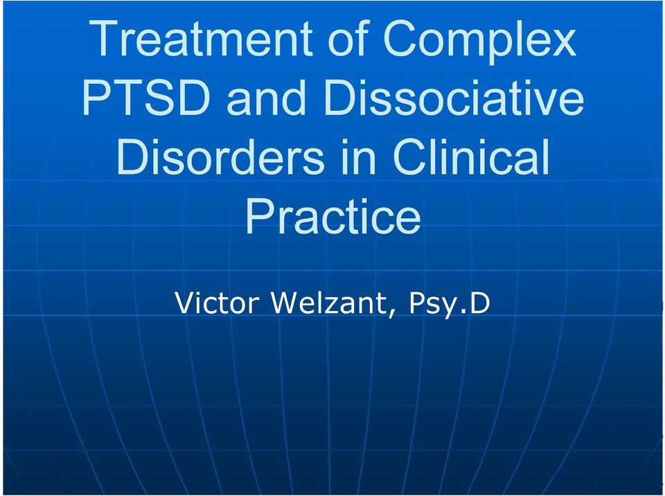 Disorders in Clinical