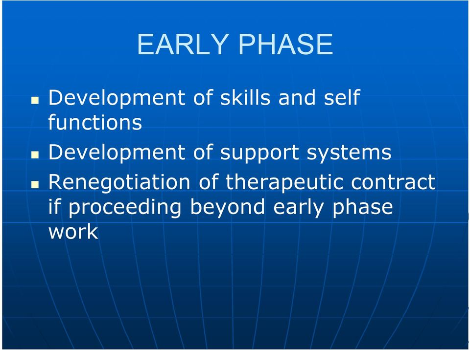 systems Renegotiation of therapeutic