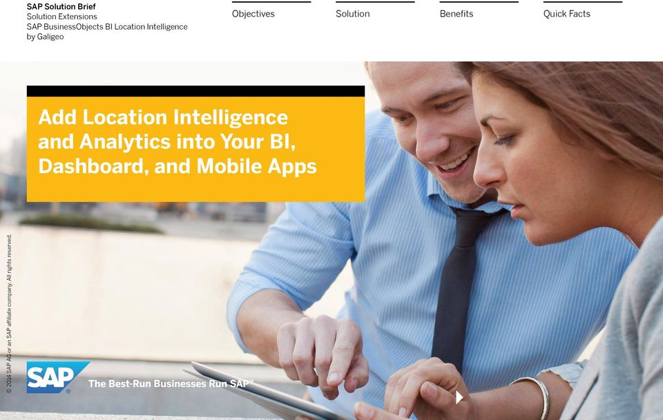 Objectives Add Location Intelligence and