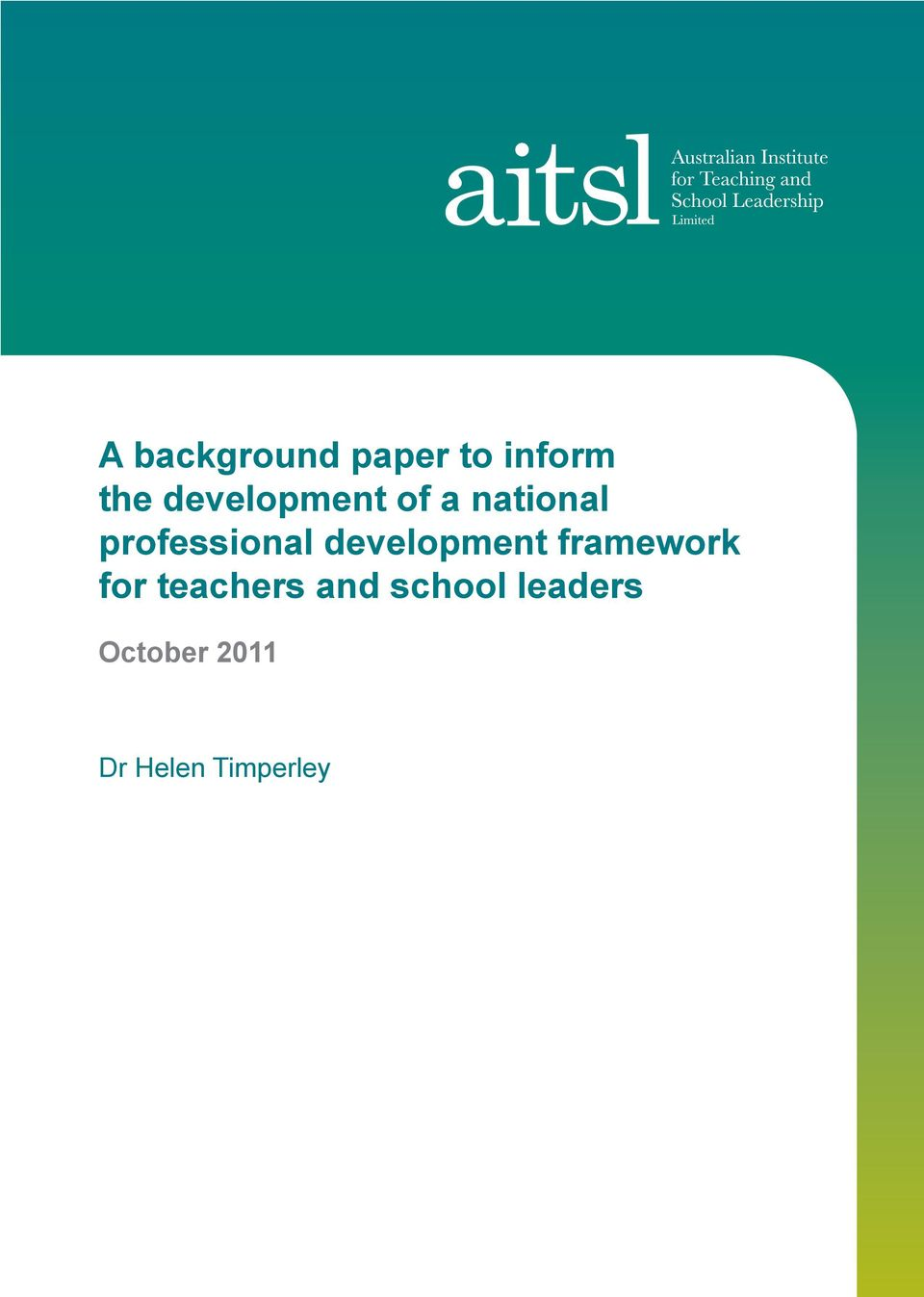 development framework for teachers and