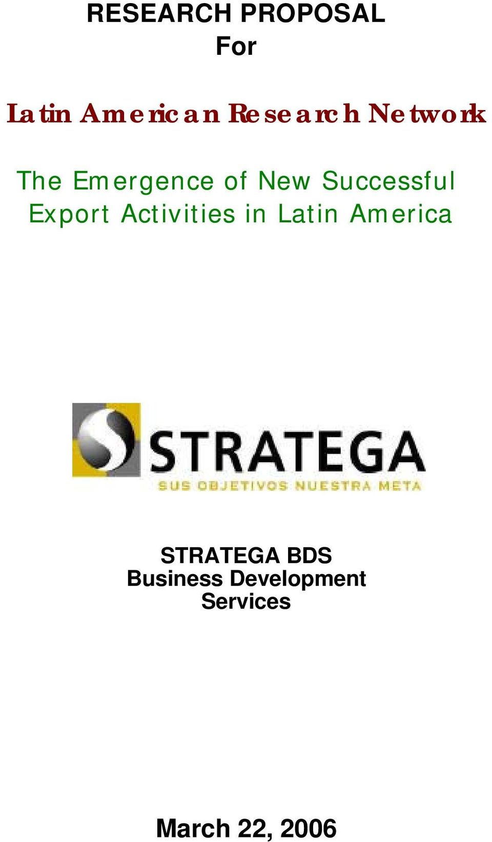 Successful Export Activities in Latin