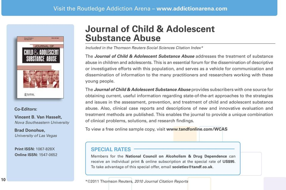 substance abuse in children and adolescents.