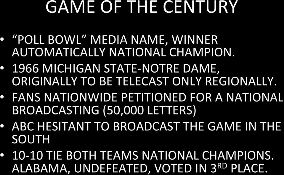 FANS NATIONWIDE PETITIONED FOR A NATIONAL BROADCASTING (50,000 LETTERS) ABC HESITANT TO