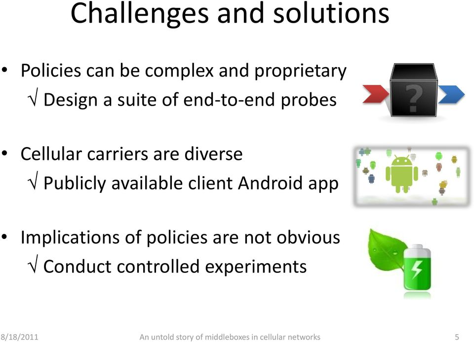 carriers are diverse Publicly available client Android app