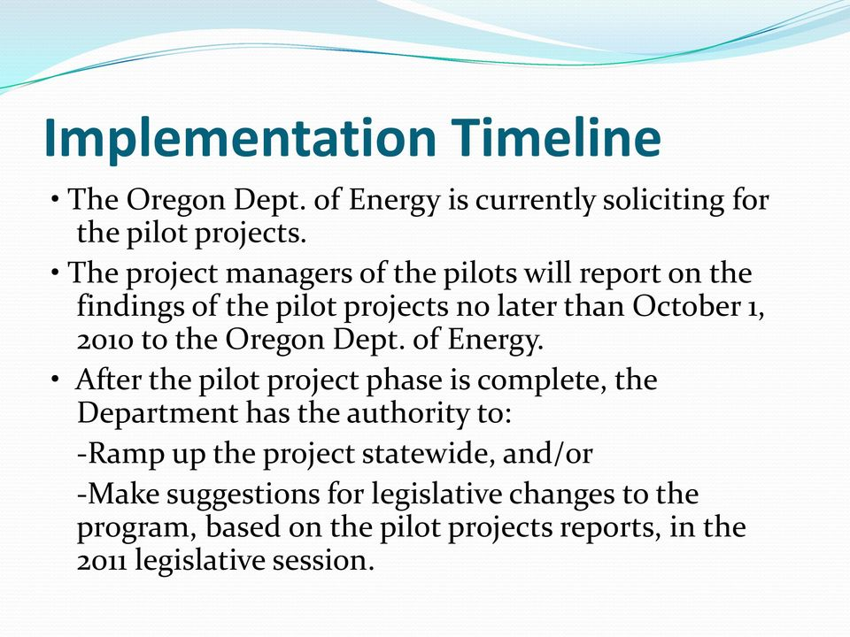 Oregon Dept. of Energy.