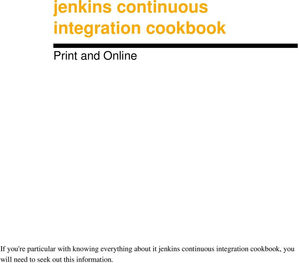 everything about it jenkins continuous