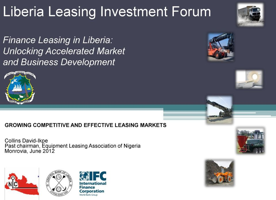 AND EFFECTIVE LEASING MARKETS Collins David-Ikpe Past