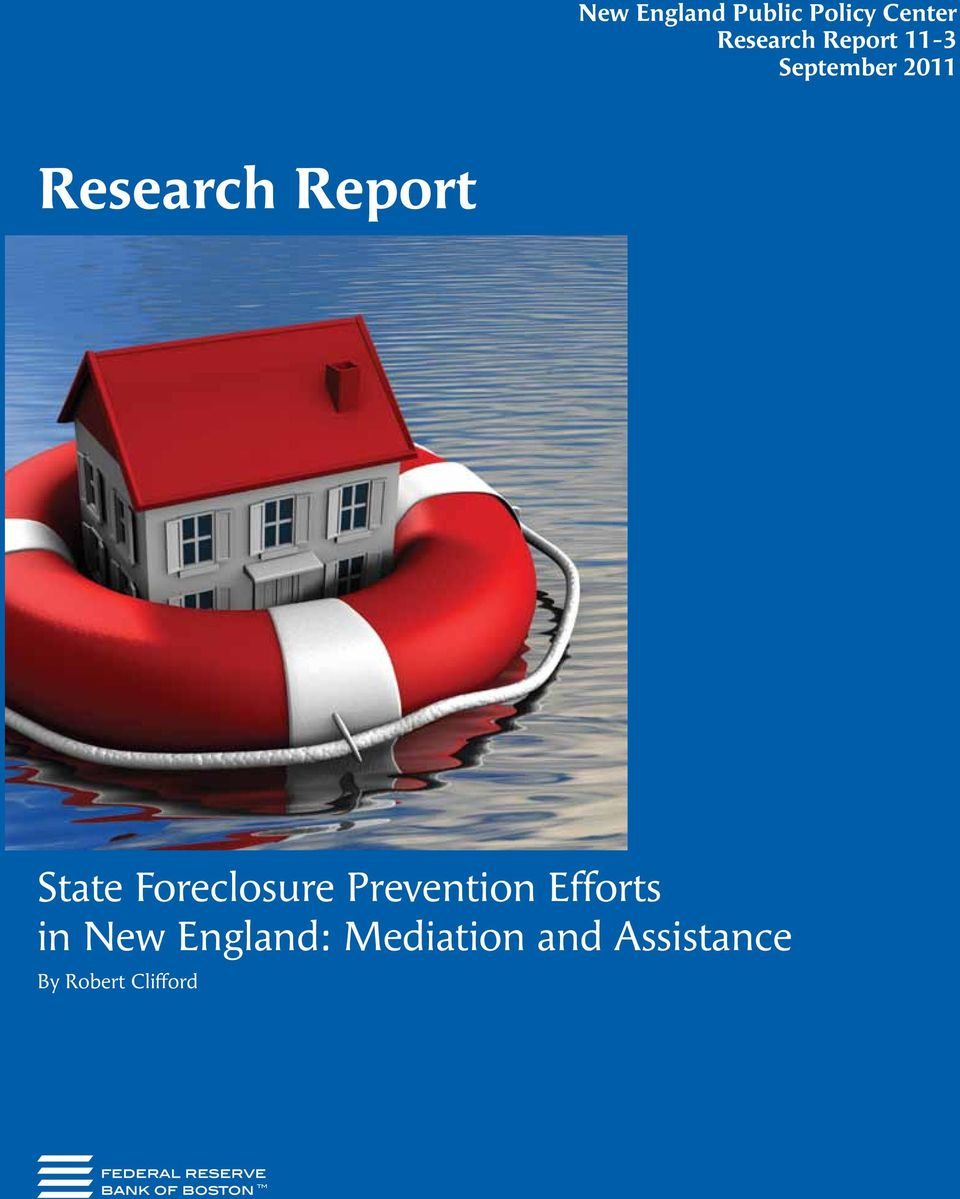State Foreclosure Prevention Efforts in New