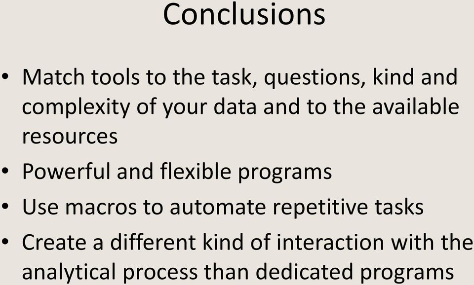 programs Use macros to automate repetitive tasks Create a different