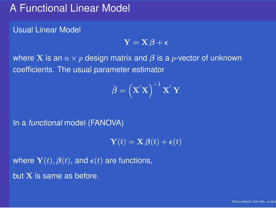 The usual parameter estimator is a -vector of unknown * 2, 2, 1, (- In a