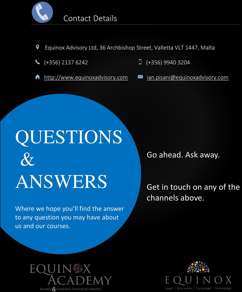 com QUESTIONS & ANSWERS Where we hope you ll find the answer to any question you may have