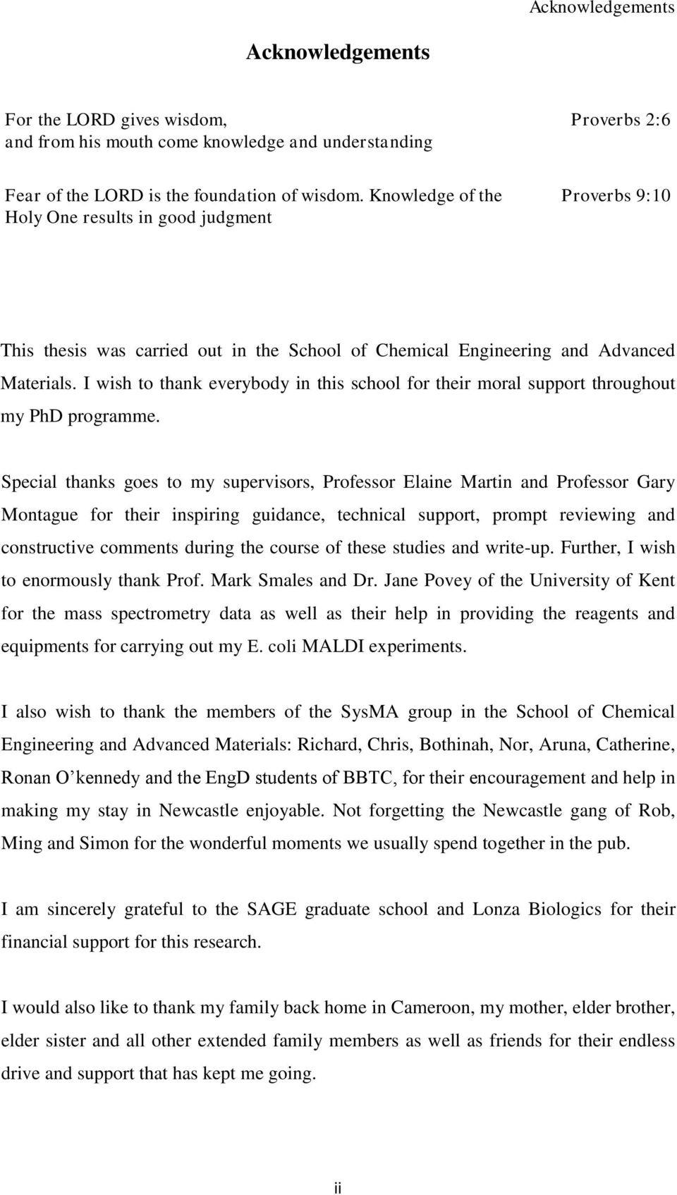 I wish to thank everybody in this school for their moral support throughout my PhD programme.