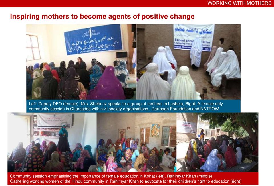 organisations, Darmaan Foundation and NATPOW Community session emphasising the importance of female education in Kohat