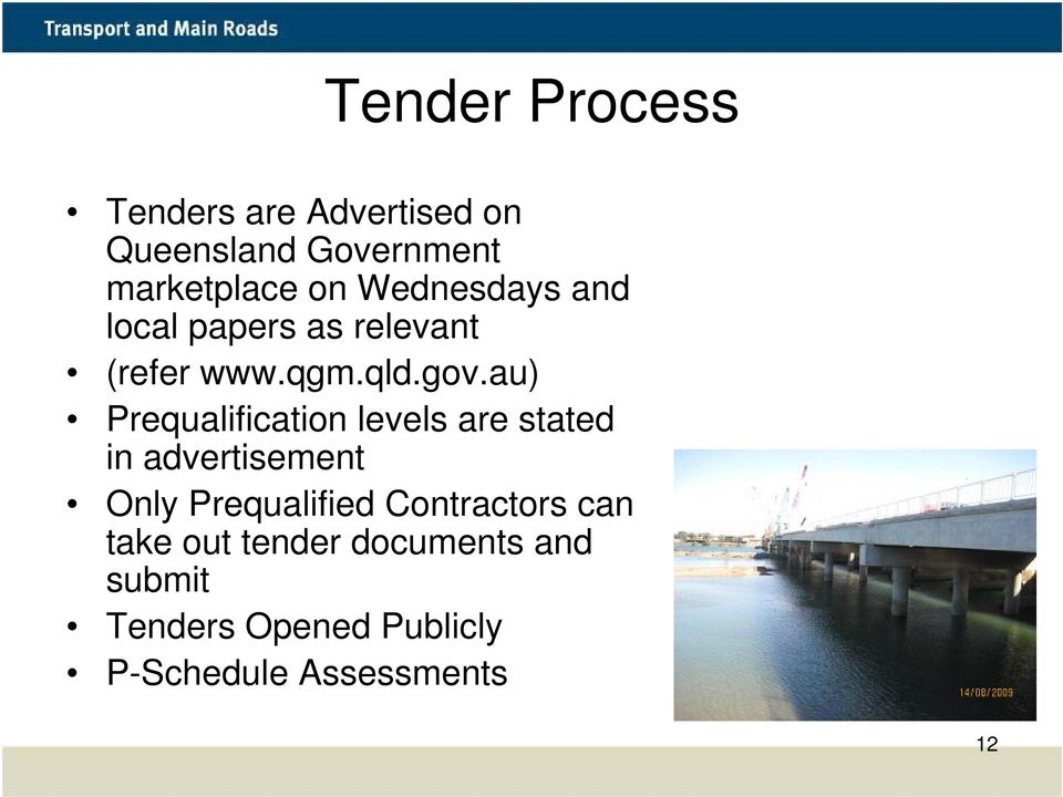 Prequalification Benefits and Process  Working with TMR - PDF
