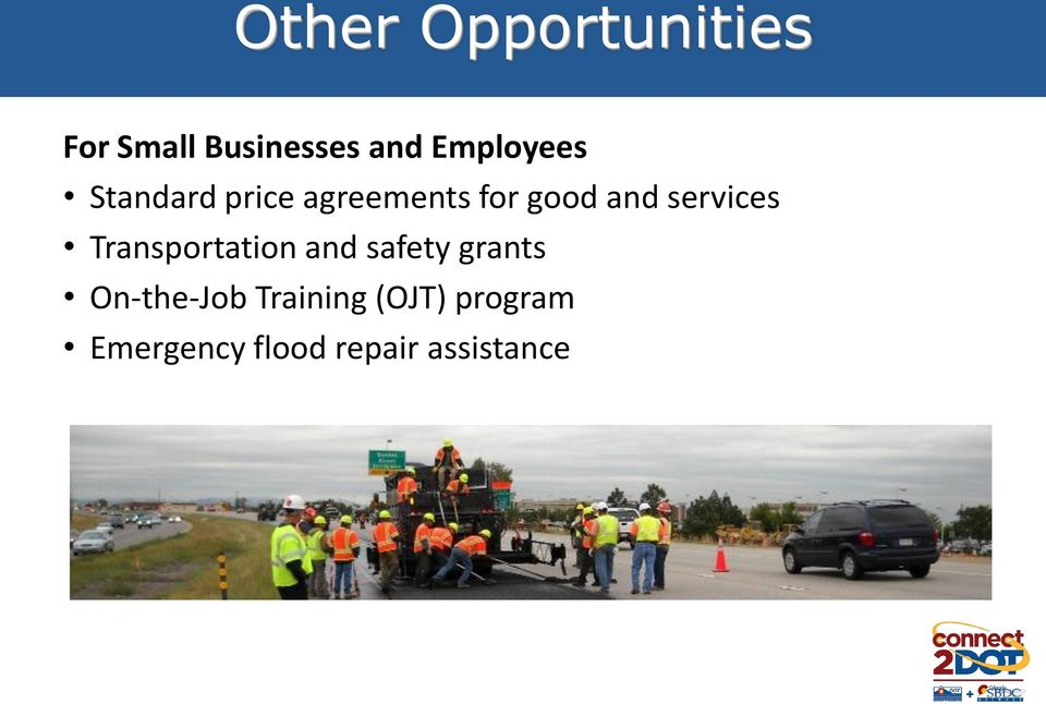 services Transportation and safety grants