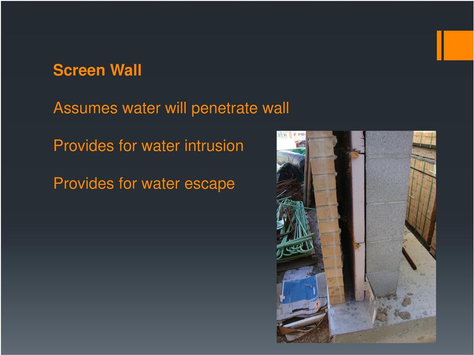 wall Provides for water