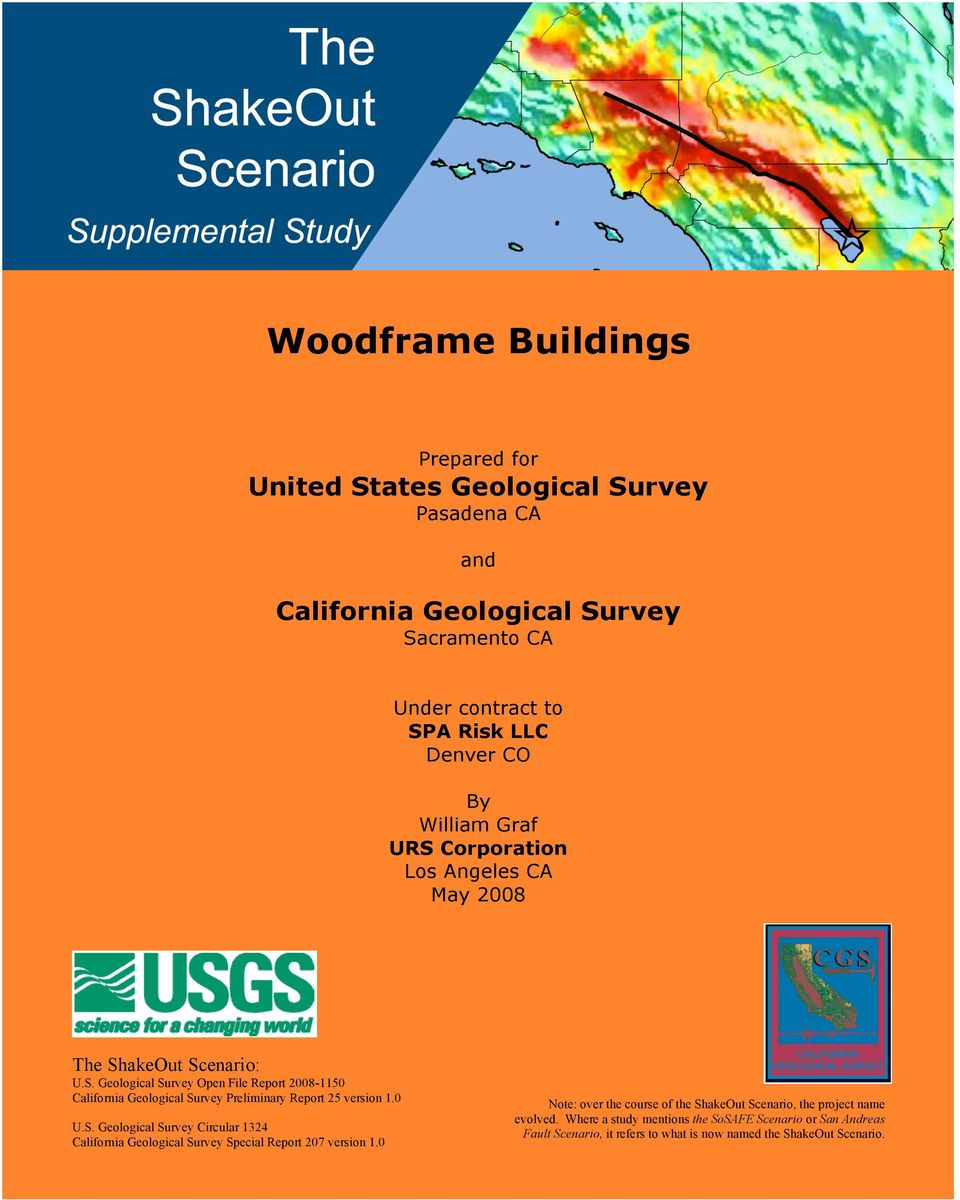 0 U.S. Geological Survey Circular 1324 California Geological Survey Special Report 207 version 1.