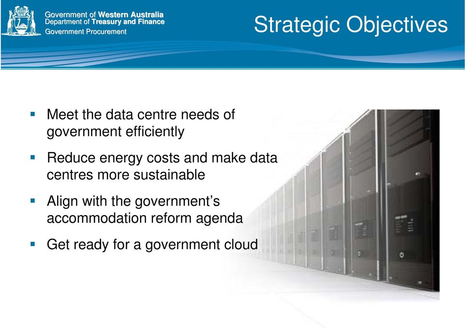 data centres more sustainable Align with the government