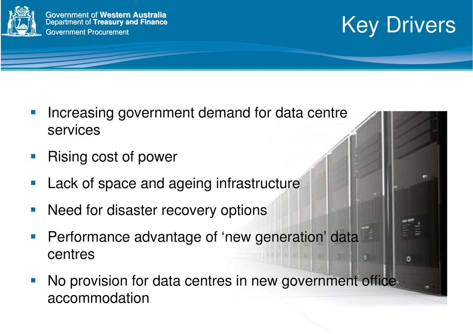 disaster recovery options Performance advantage of new generation data