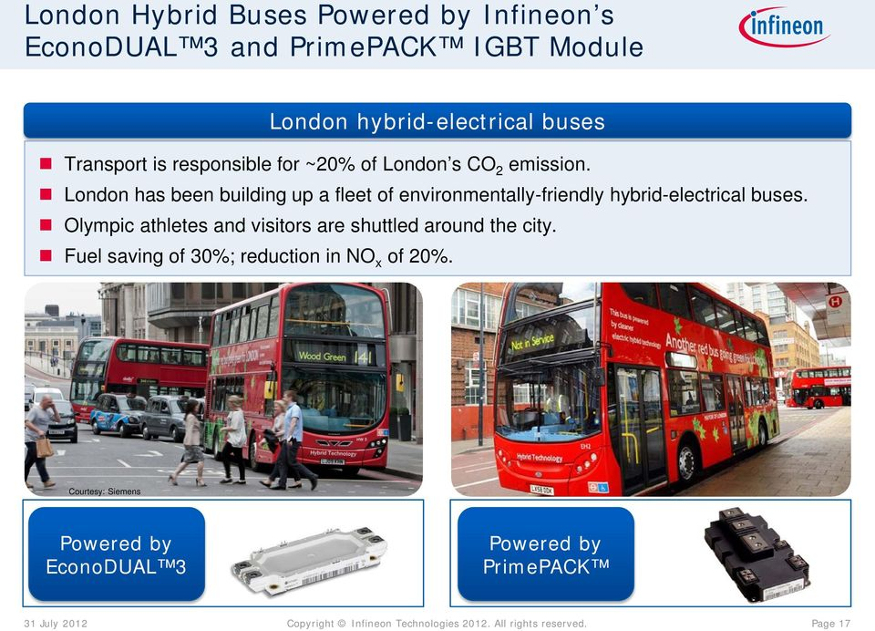 London has been building up a fleet of environmentally-friendly hybrid-electrical buses.