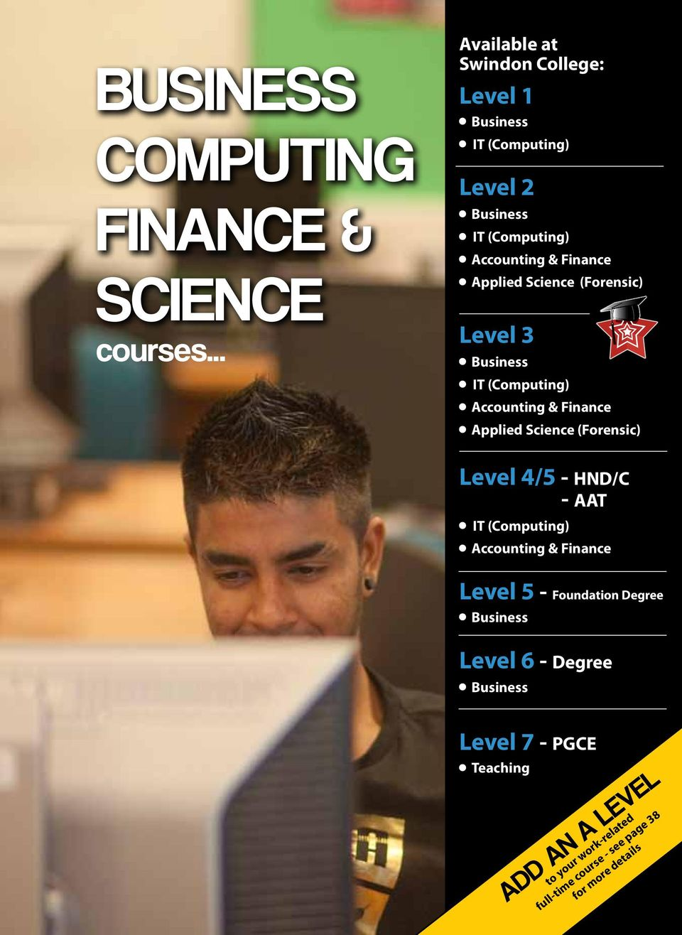 .. Available at Swindon College: Level 1 Business IT (Computing) Level 2 Business IT (Computing) Accounting & Finance Applied