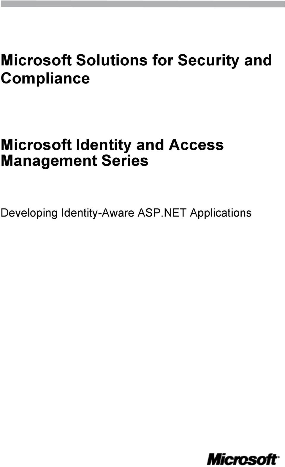 and Access Management Series