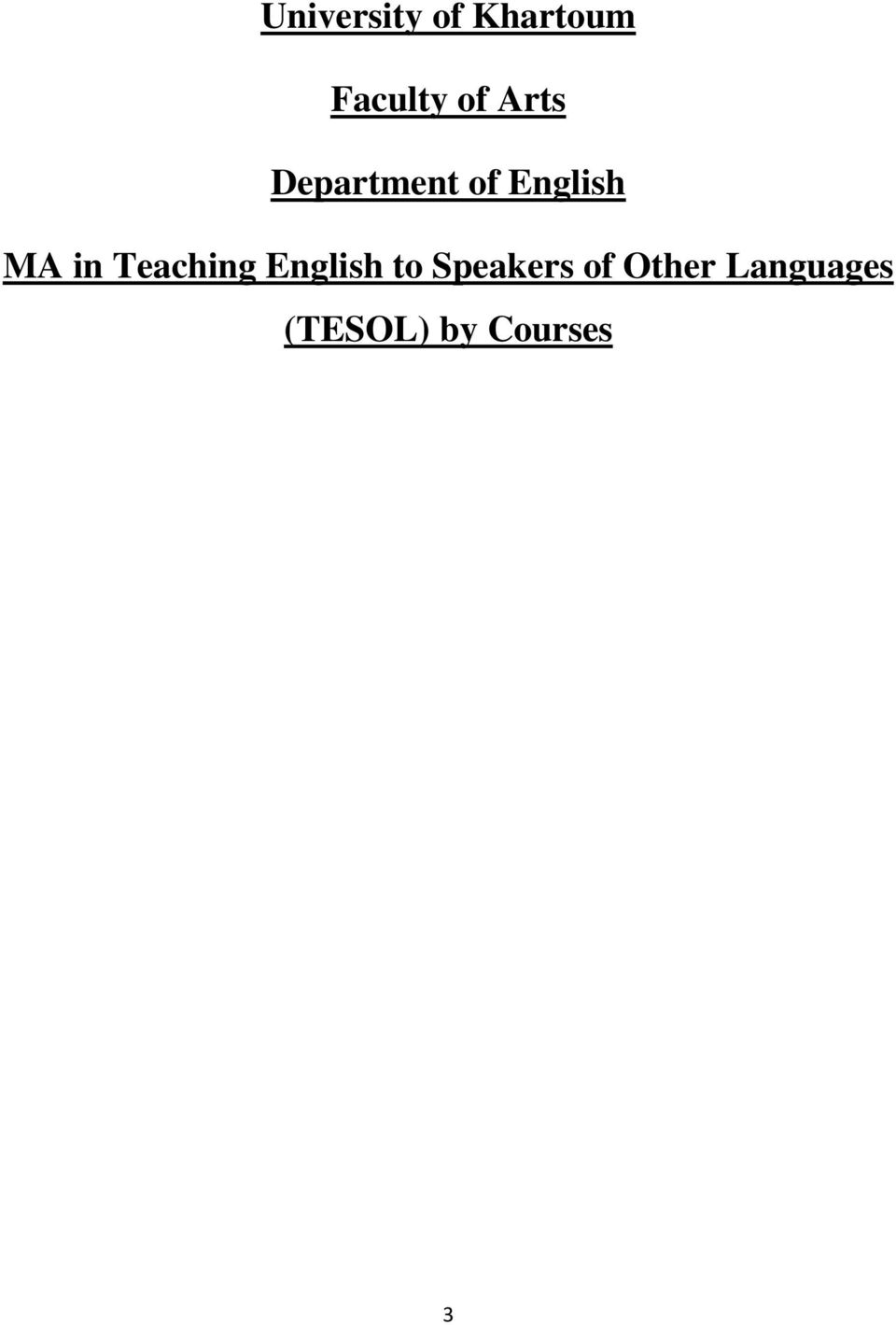Teaching English to Speakers of