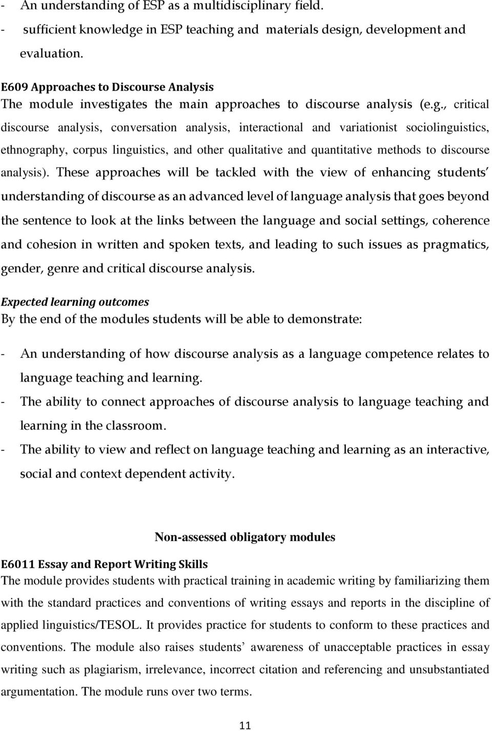 tes the main approaches to discourse analysis (e.g.