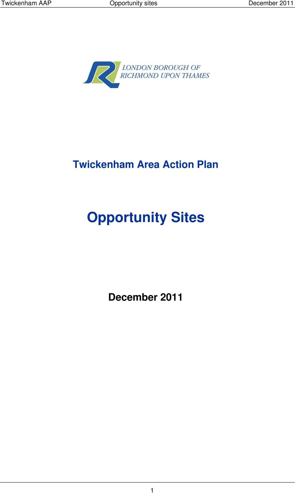 Twickenham Area Action
