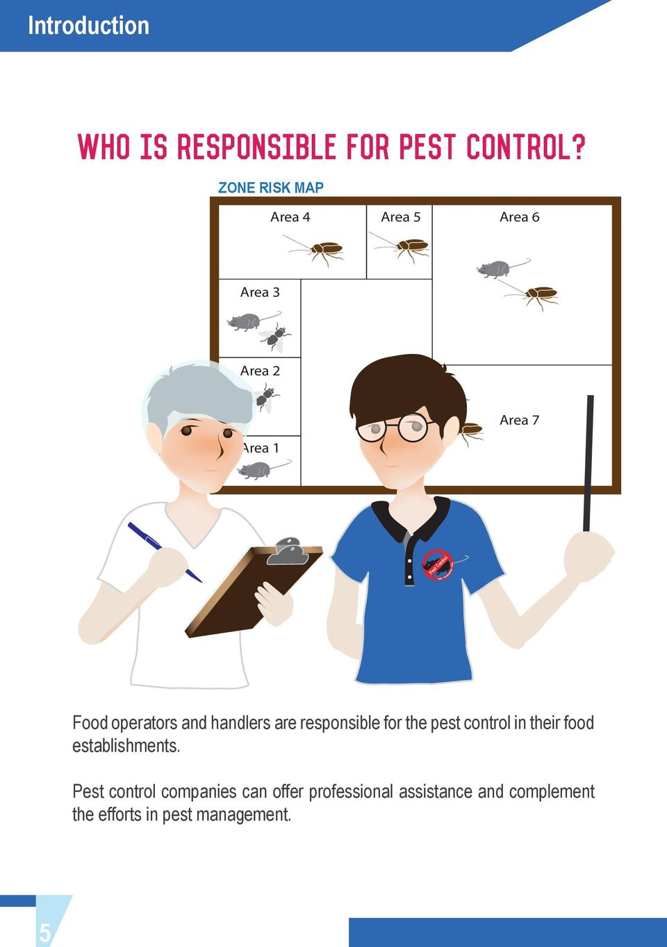 operators and handlers are responsible for the pest control in their food