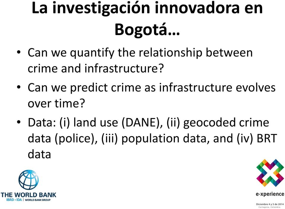 Can we predict crime as infrastructure evolves over time?