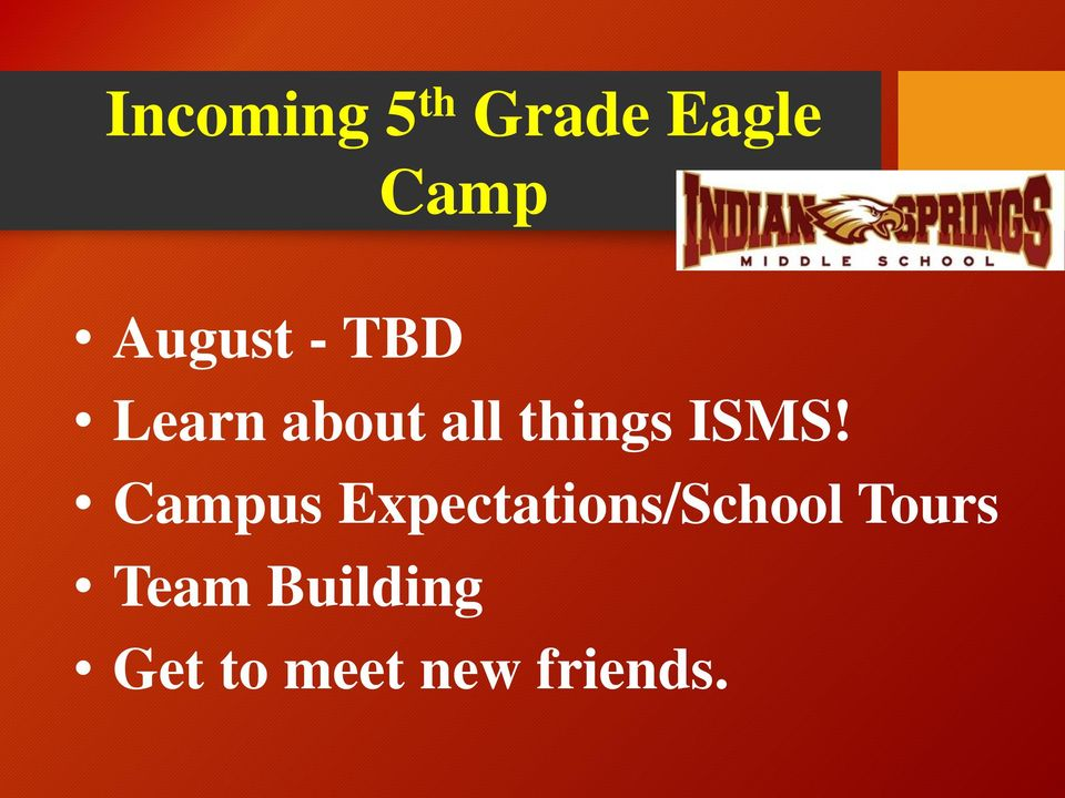 ISMS! Campus Expectations/School