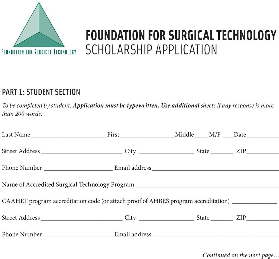 Last Name First Middle M/F Date Street Address City State ZIP Phone Number Email address Name of Accredited Surgical