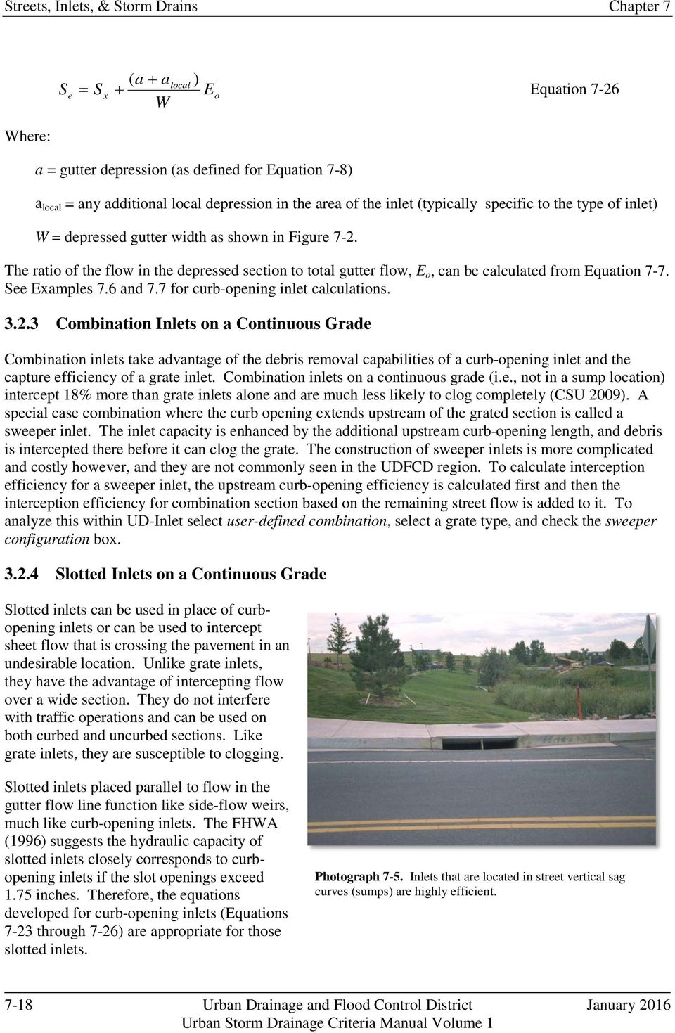 Chapter 7 Street, Inlets, and Storm Drains - PDF