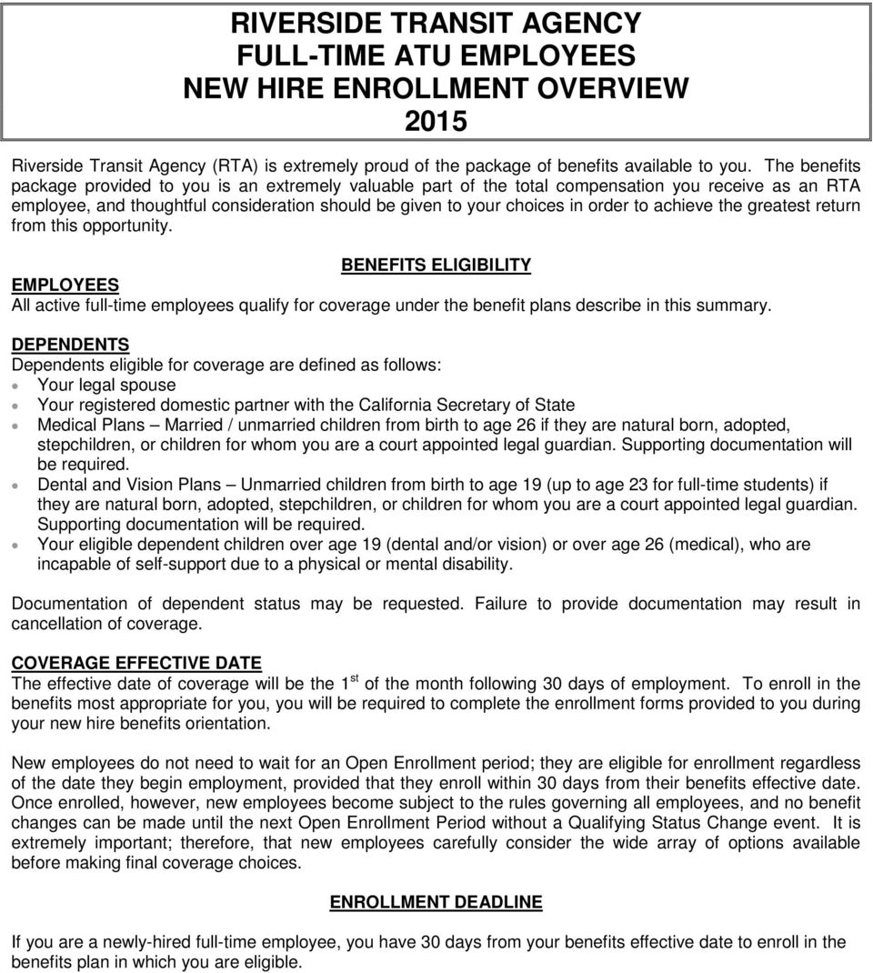 greatest return frm this pprtunity. BENEFITS ELIGIBILITY EMPLOYEES All active full-time emplyees qualify fr cverage under the benefit plans describe in this summary.