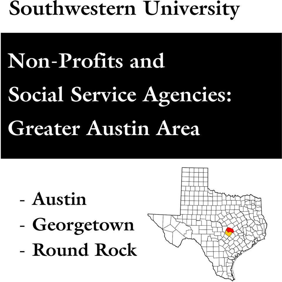 Service Agencies: Greater
