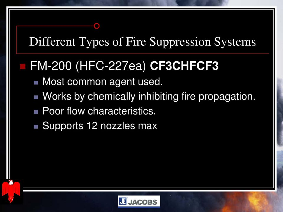 used. Works by chemically inhibiting fire