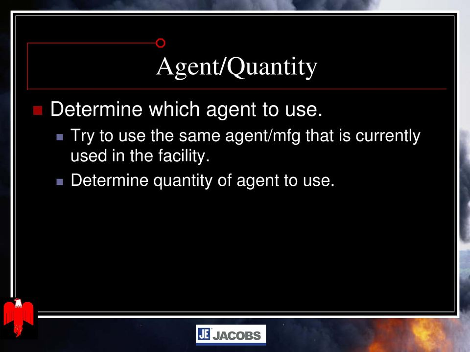 Try to use the same agent/mfg that is