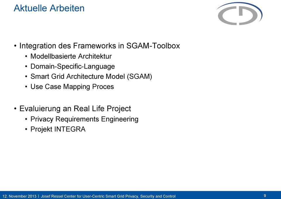 Grid Architecture Model (SGAM) Use Case Mapping Proces