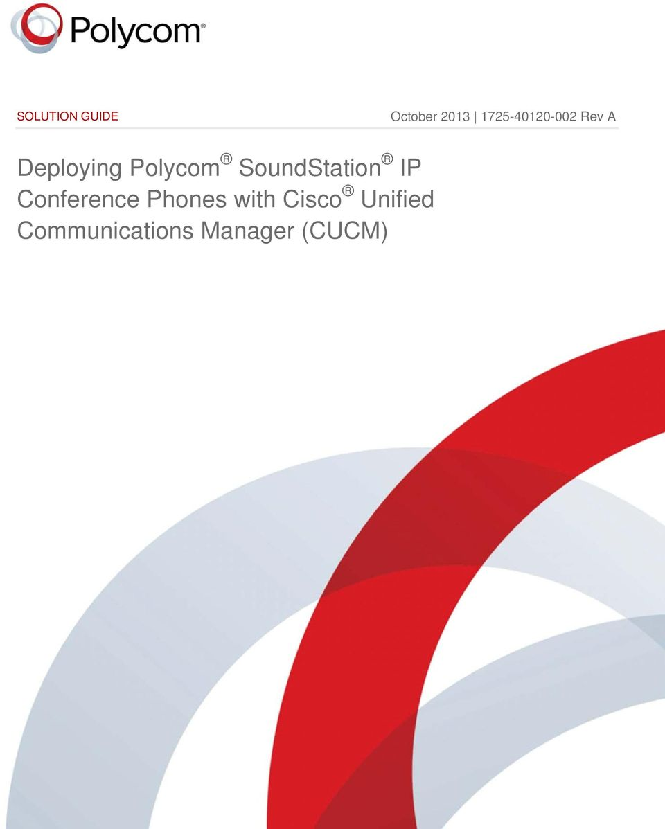 SoundStation IP Conference Phones with Cisco