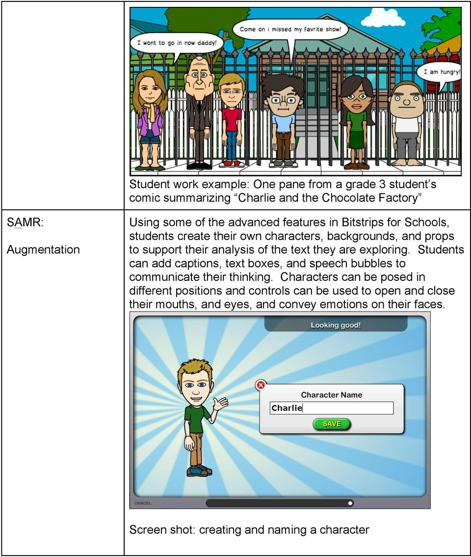 are exploring. Students can add captions, text boxes, and speech bubbles to communicate their thinking.