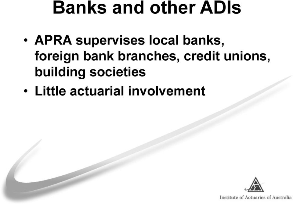 bank branches, credit unions,