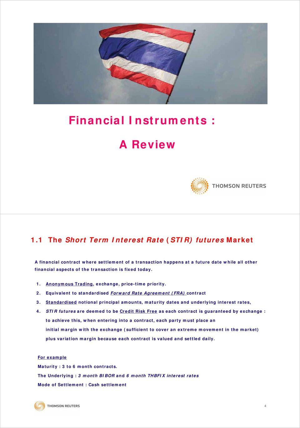 Interest Rate Futures Pricing Hedging Trading Analysis And