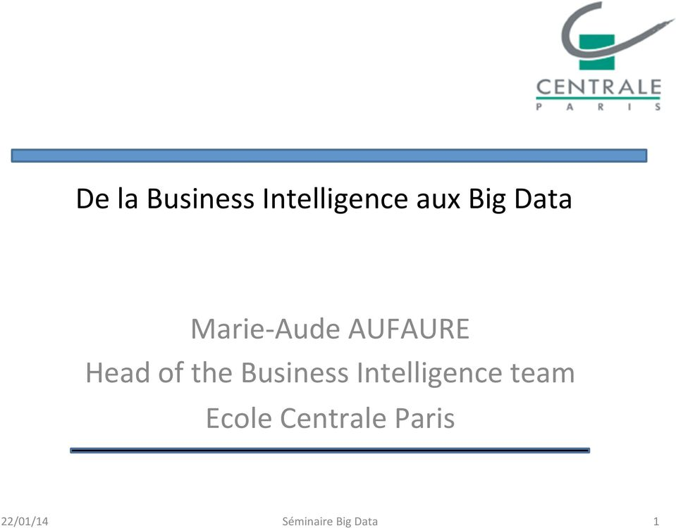 Business Intelligence team Ecole