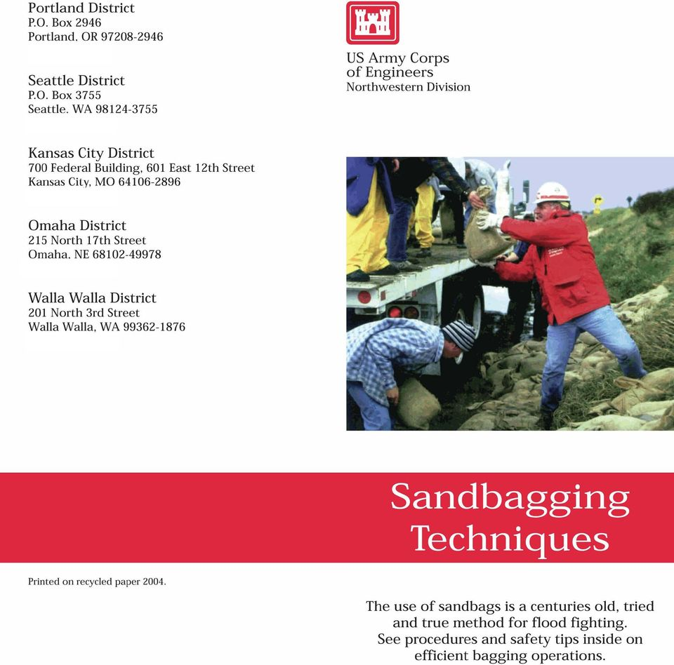 The use of sandbags is a centuries old, tried and true method