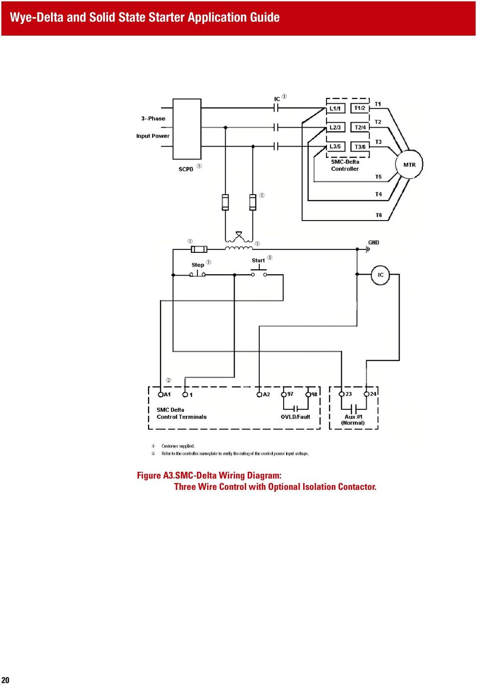 Wye Delta Wiring Diagram Breaker Schematics Diagrams Schematic Y And Solid State Starter Application Guide Pdf Open Transformer Connection