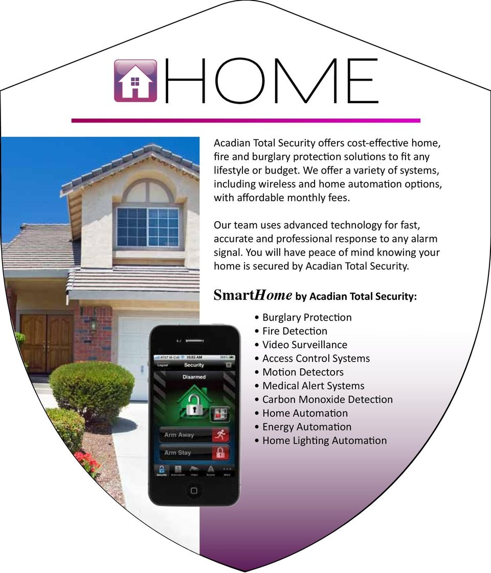 Our team uses advanced technology for fast, accurate and professional response to any alarm signal.